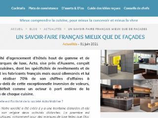 Culture Cuisine - Le mag a publié un article sur Acta